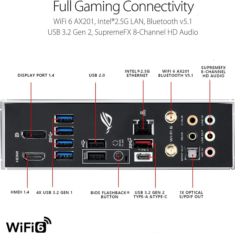 12+2 Power Stages, Intel 2.5 Gb Ethernet, Bluetooth v5.1 and Aura Sync WiFi 6 Intel 10th Gen Z490 LGA 1200 SFF Micro ATX Gaming Motherboard ASUS ROG Strix Z490-G Gaming