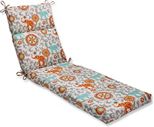 Pillow Perfect Outdoor/Indoor Menagerie Cayenne Chaise Lounge Cushion, 72.5