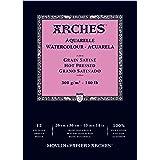 "Arches Watercolor Paper Pad, 140 pound, Hot Press, 10""x14"" (1795098)"