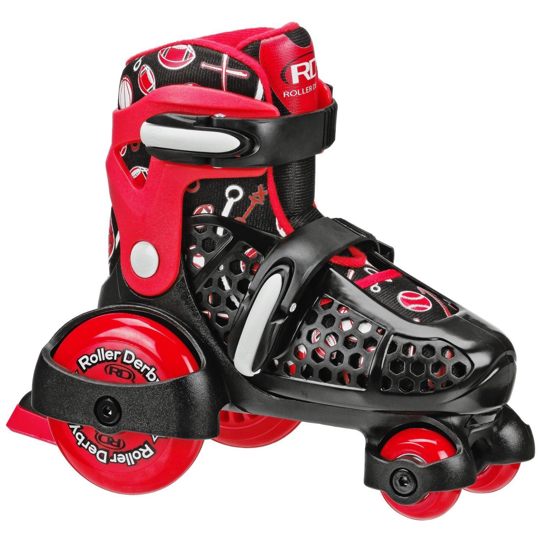 Roller skates red - Amazon Com Roller Derby Ez Roll Boy S Sz 7 11 Adjustable Youth Roller Skate Sports Outdoors