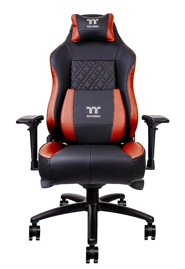 Tt eSPORTS X Comfort Air - Silla (Asiento Acolchado, Respaldo Acolchado, Negro, Rojo, Negro, Cloruro de polivinilo (PVC), Cloruro de polivinilo (PVC)): ...