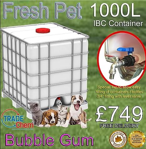 1000L fresco mascota de la perrera/cattery desinfectante, limpiador, ambientador – Bubble Gum