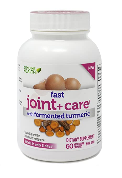 Amazon.com: Genuine Health Fast Joint+ Care with Fermented Turmeric, 60 Vegetarian Capsules: Health & Personal Care