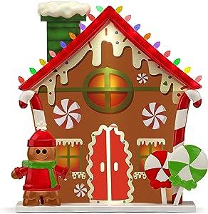 Mr. Christmas Blow Mold Village - Gingerbread House Christmas Décor, Multi Color