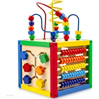 Play22 Activity Cube with Bead Maze - 5 in 1 Baby Activity Cube Includes Shape Sorter, Abacus Counting Beads, Counting…