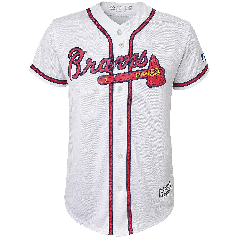Amazon.com  Ronald Acuna Jr. Atlanta Braves  13 White Youth Cool Base Home Replica  Jersey (Small 8)  Clothing 6c36106e0