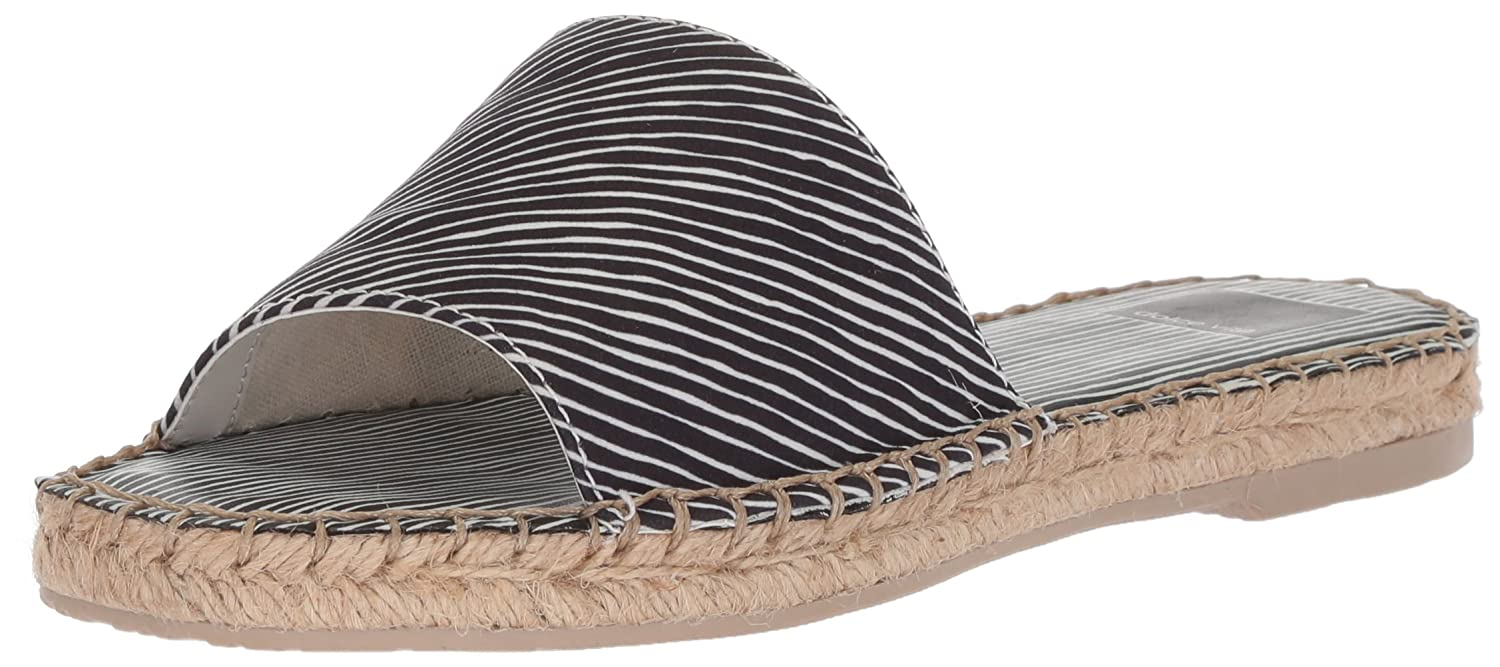 Dolce Vita Women's Bobbi Slide Sandal B077QSZZSV 10 B(M) US|Black Stripe Fabric