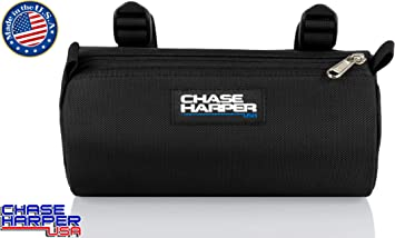 Chase Harper USA Bicycle Barrel Bag Black Water-Resistant Tear-Resistant Industrial Grade Ballistic Nylon with Universal Mounting System