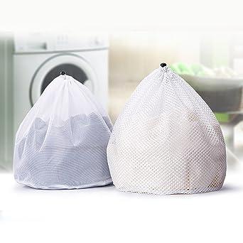 Bolsas de lavandería D&&R con cordón para lavadora, reutilizables, para
