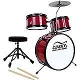 CB Sky 5-Piece Junior Drum Set Red, Kids Percussion Instrument/Kids Musical Toys/Kids Musical Instrument