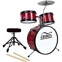CB Sky 5-piece Junior Drum Set(RED), Kids Percussion Instrument/Kids Musical Toys/Kids Musical Instrument