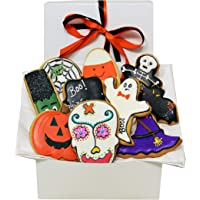 Gourmet Halloween Cookie Gift Basket Decorated Sugar Cookies Halloween Designed Spooky Trick Or Treat Gift Idea For Boys…