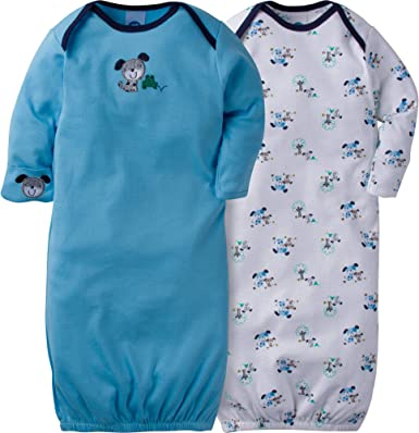 Gerber Unisex-Baby 2-Pack Gown Infant-and-Toddler-Nightgowns
