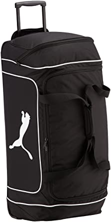 Puma - Bolsa de deporte con ruedas (78 cm), color negro ...