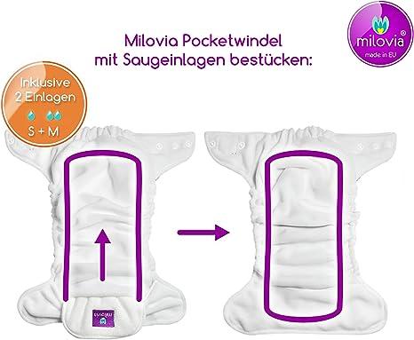 12,5x31 cm Coolmax Saugeinlagen Gr/ö/ße Gr/ö/ße M Milovia