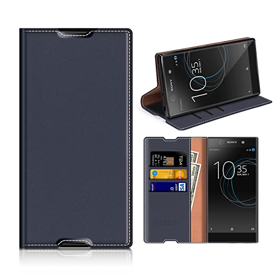 official photos 31fae ebb21 Sony Xperia XA1 Ultra Wallet Case, Mobesv Sony Xperia XA1 Ultra Leather  Case/Phone Flip Book Cover/Viewing Stand/Card Holder for Sony Xperia XA1 ...