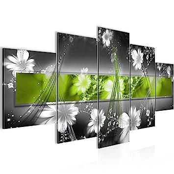 LEINWAND BILDER Blumen Abstrakt moderne WANDBILDER xxl Wohnzimmer KUNSTDRUCK