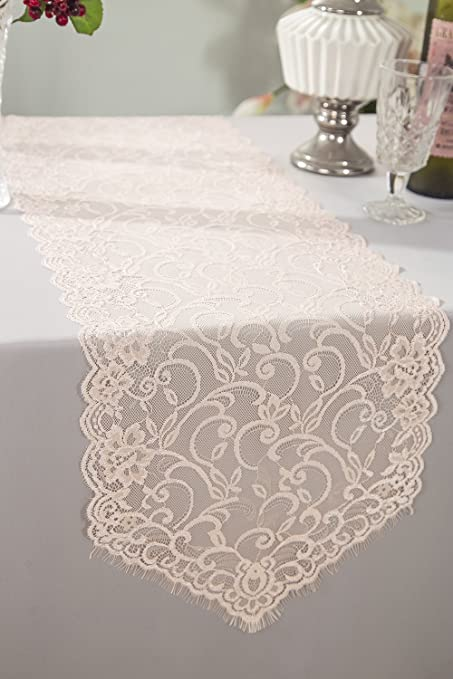 Amazon wedding linens inc wholesale 12 x 108 chantilly lace wedding linens inc wholesale 12quot x 108quot chantilly lace table runners wedding table junglespirit Choice Image