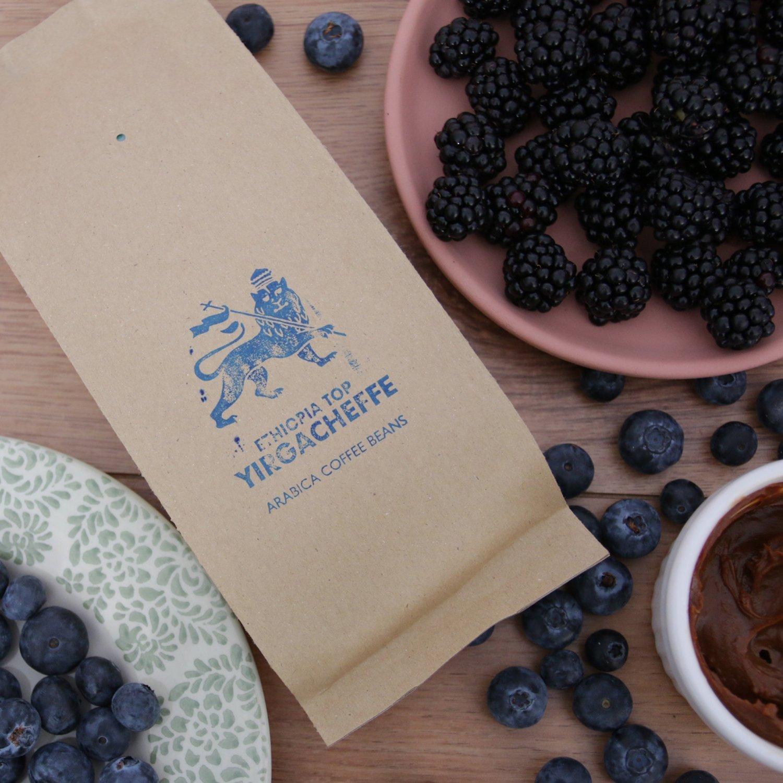 Granos de café de 250g Ethiopia Yirgacheffe: Amazon.es: Alimentación y bebidas