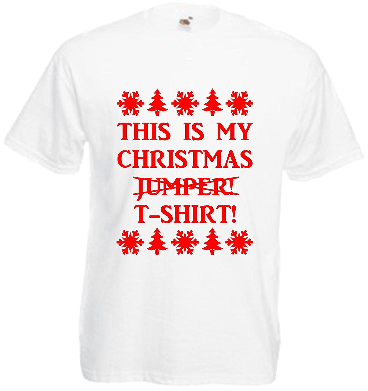6838b37d821 This is My Christmas Jumper T-Shirt Funny Xmas Tee T Shirt Gift Present Top  Joke