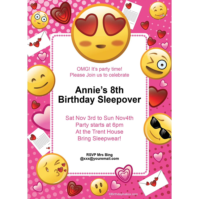 Emoji Birthday Invitations | Birthday Wikii