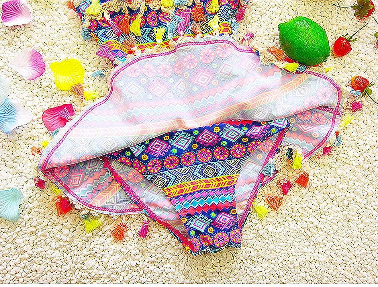 Dear Tomorrow One-Piece Bohemia Swimsuit Unique Tassel Swimwear for Baby Girls