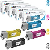 LD Compatible Replacements for Xerox Phaser 6500 Set of 4 Toner Cartridges Includes: 1 Black 106R01597, 1 Cyan 106R01594, 1 Magenta 106R01595, and 1 Yellow 106R01596