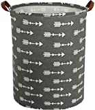 HIYAGON Large Storage Baskets,Waterproof Laundry Baskets,Collapsible Canvas Basket for Storage Bin for Kids Room,Toy Organizer,Home Decor,Baby Hamper (Triangle Arrow)