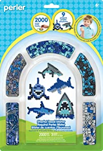 Perler Bead 'Shark' Fuse Bead Activity Kit for Kids Crafts, 2004 pcs