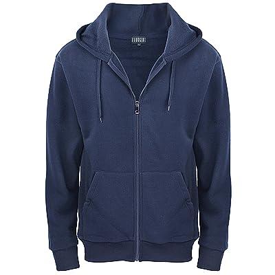Hoodies for Men / Full Zip Casual Active Fleece Sweatshirt with Kangaroo Pocket