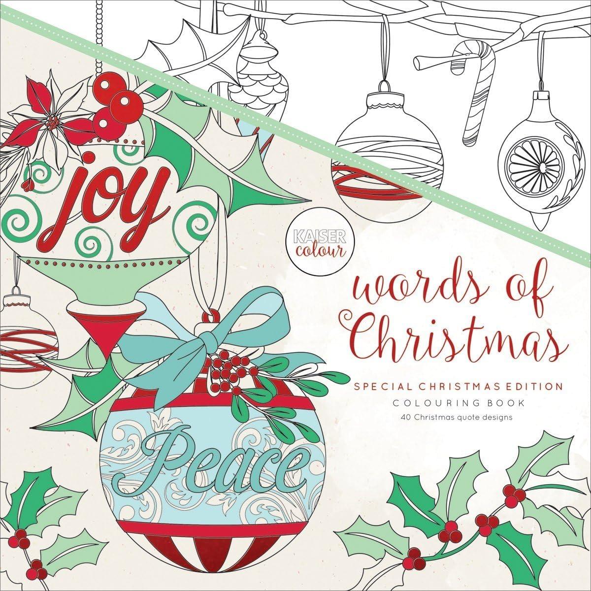 "1925405427 Kaisercolour Perfect Bound Coloring Book 9.75""x9.75""-words Of Christmas 81AtA6x7UEL"