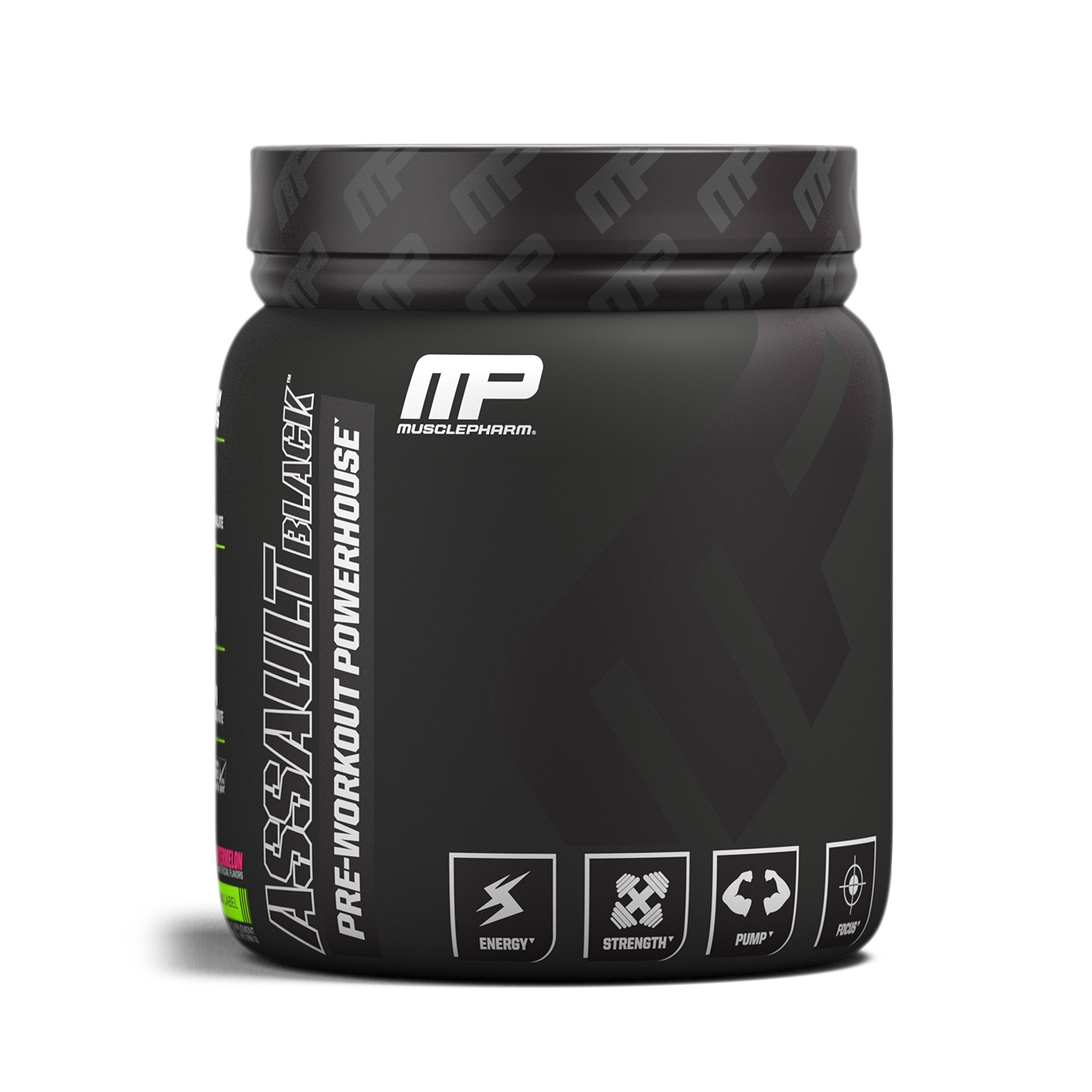 MusclePharm Assault Black Pre-Workout Supplement, Watermelon, 30 Servings by Muscle Pharm