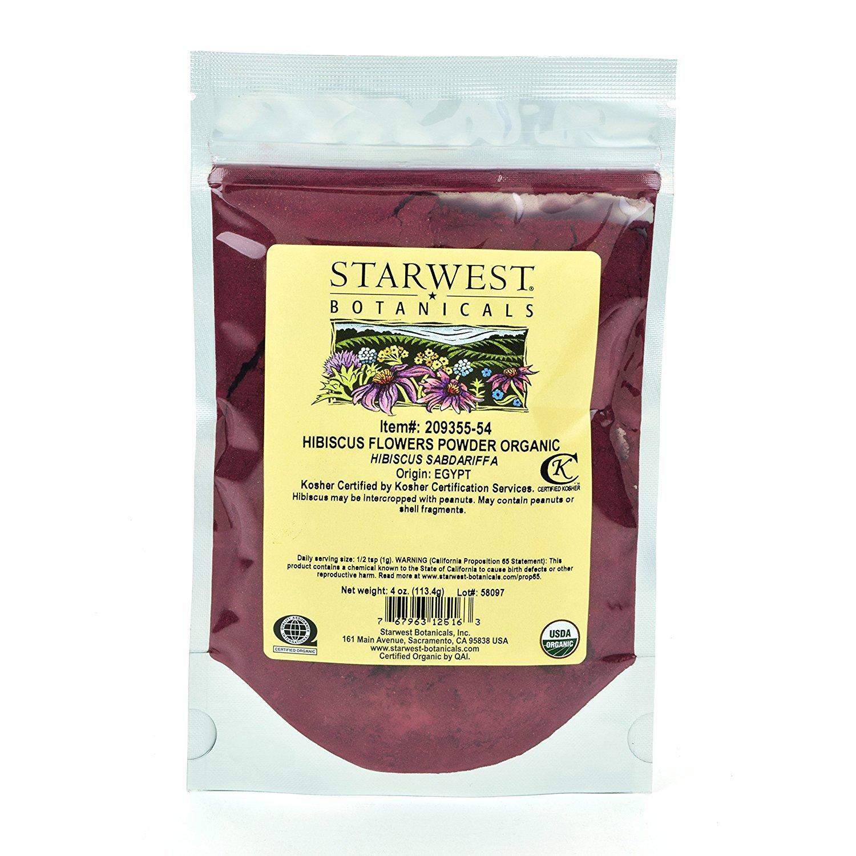Starwest botanicals organic hibiscus flower powder 4 ounces product details izmirmasajfo