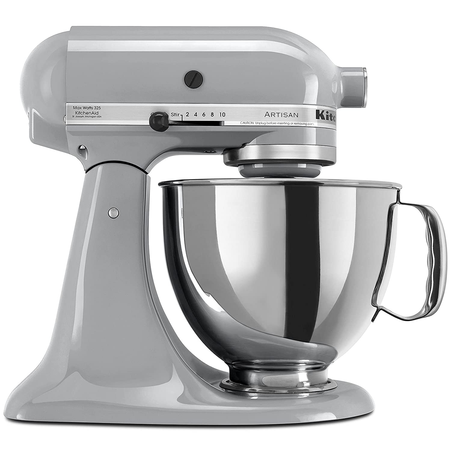 KitchenAid Artisan Series Tilt-Head Stand Mixer (KSM150PSMC) Metallic Chrome - New