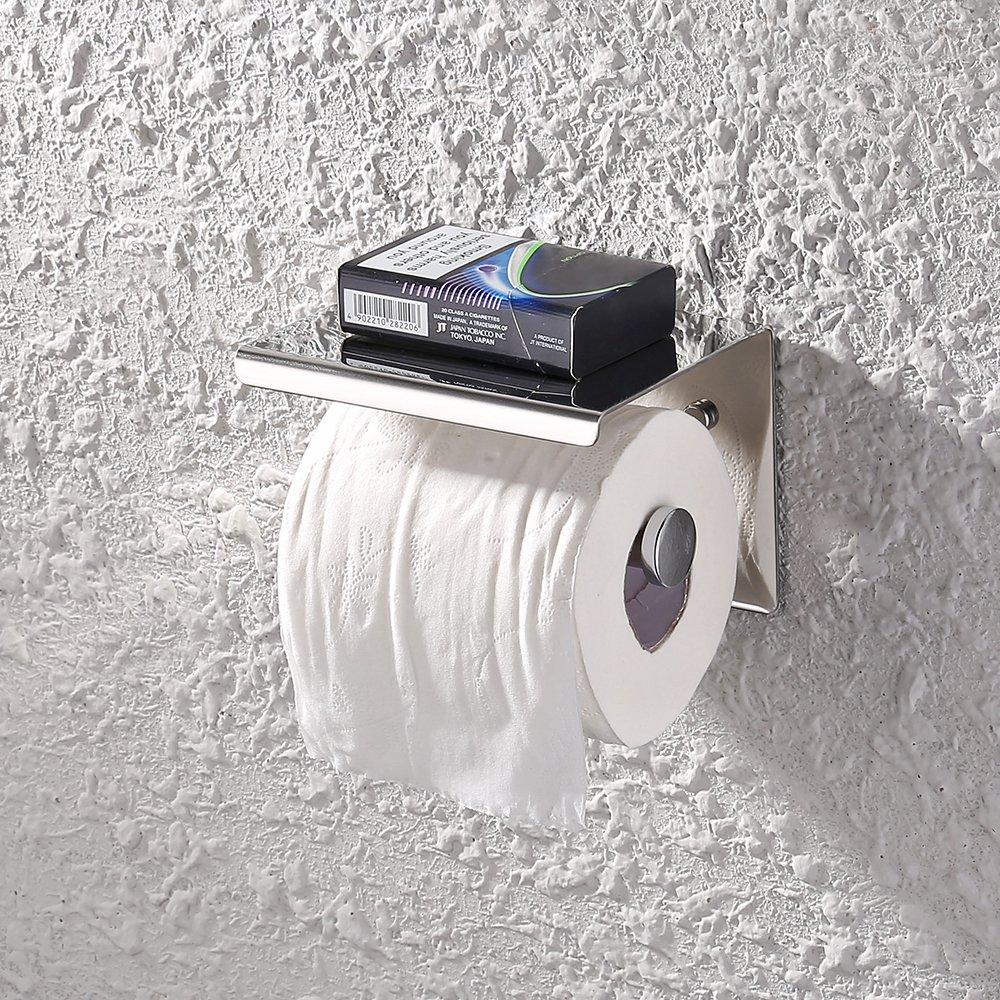 KES Toilet Paper Holder RUSTPROOF Stainless Steel Bathroom Tissue Paper Towel Roll Holder Hanger Wall Mount Polished Finish, BPH201S1