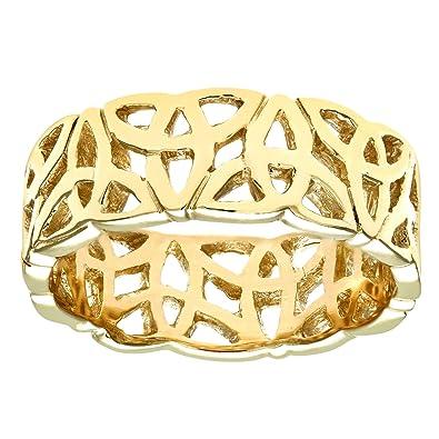 Citerna Women's 9 ct Yellow Gold Band Ring SW4zanY