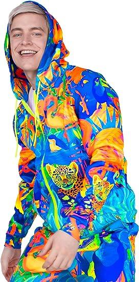 Men Sweatshirt Flamingo Colorful Rainbow Bird Beautiful Animals 3D Digital Printing Funny Hoodie Pullover with Pockets