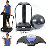 Gym Master 2017 Crazy Fit Vibration Machine 3900W Peak Power,Speakers MP3, Gym Ball, Power Cords