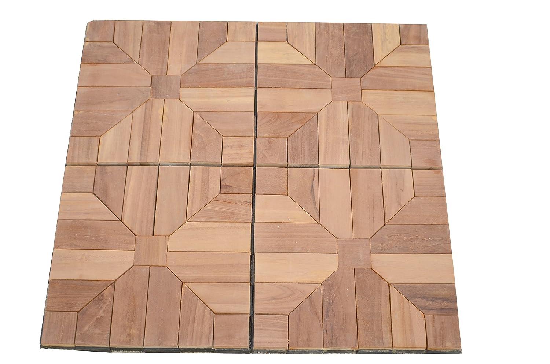 Amazon Teak Deck Tiles 12x12 Outdoor Patio Interlocking Diy