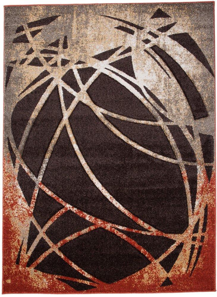 TAPISO Tappeto Salotto Moderno Malaysia – Colore Marrone Scuro Motivo Astratto – Morbido - Facile Da Pulire – Migliore Qualità – Diverse Misure S-XXXL 80 x 150 cm