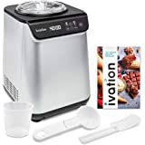 Ivation Automatic Ice Cream Maker Machine, No Pre-freezing Necessary with Built-in Compressor, Stainless Steel Gelato Maker,