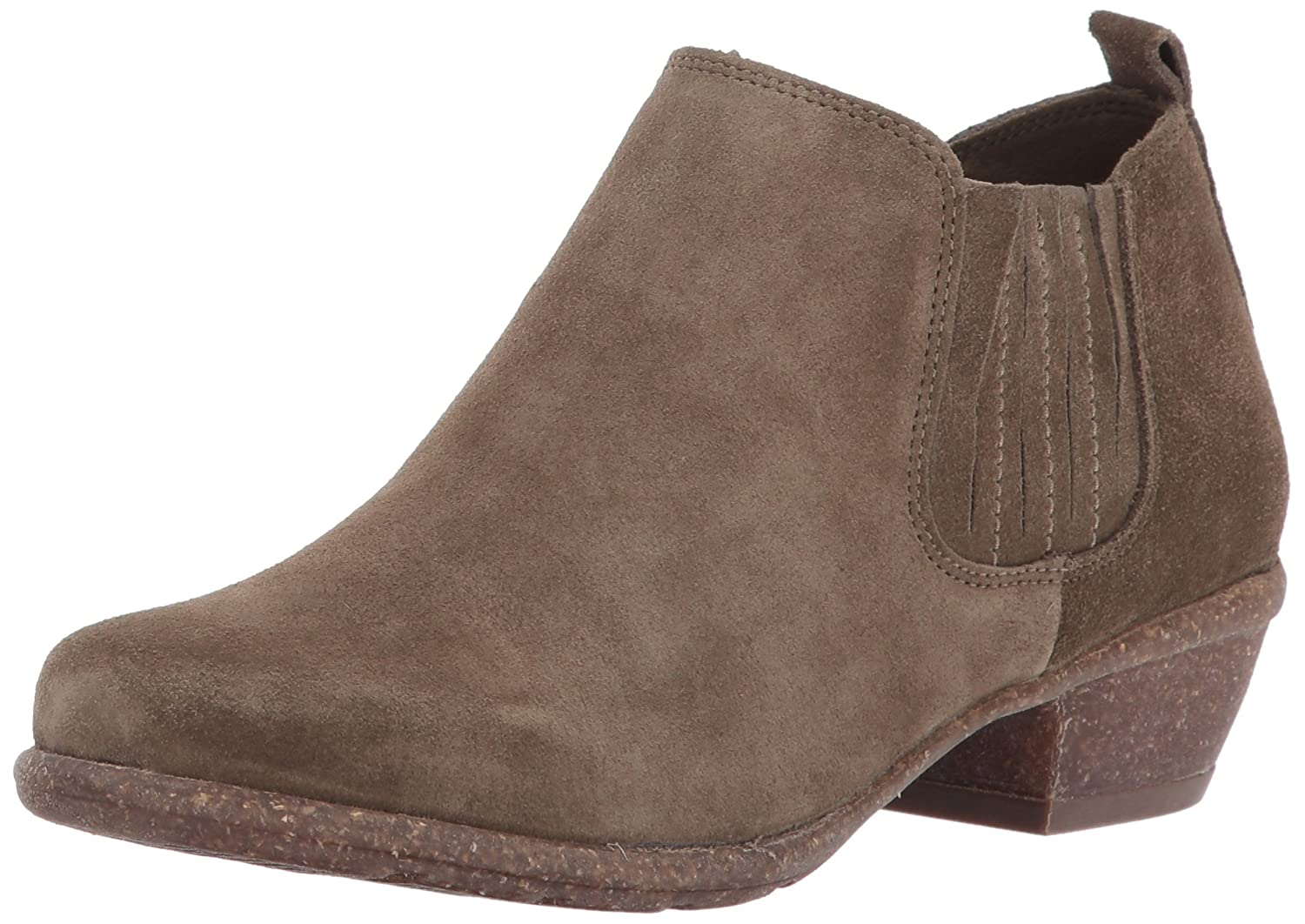 CLARKS Women's Wilrose Jade Ankle Bootie B01NBJUCUG 7 B(M) US|Olive Suede