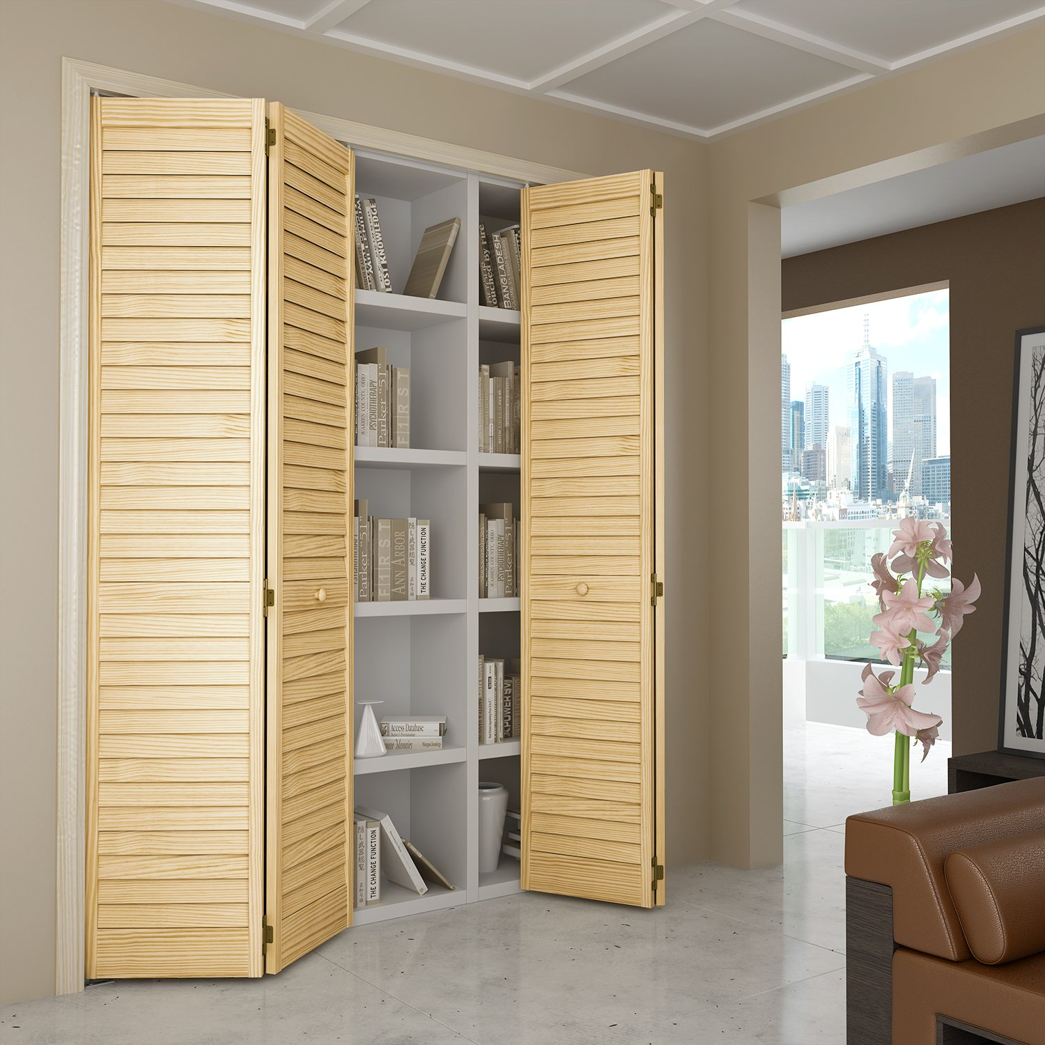 Closet Door Bi-fold Louver Louver Plantation (32x80) - Closet Storage And Organization Systems - Amazon.com & Closet Door Bi-fold Louver Louver Plantation (32x80) - Closet ...
