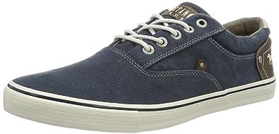 Mustang 4103-301, Herren Sneakers, Blau (800 Dunkelblau), 44 EU
