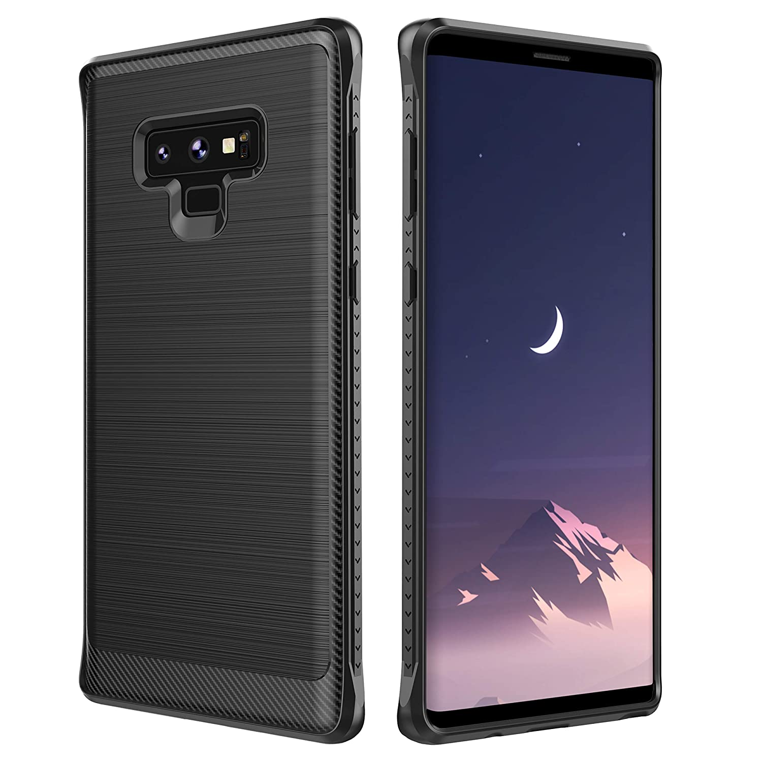 official photos d47d7 fbe27 Note 9 Case, Amokc Note 9 Protective Case Brushed Carbon Fiber Phone Case  Soft TPU Full Body Protection Shockproof Case Cover for Samsung Galaxy Note  ...