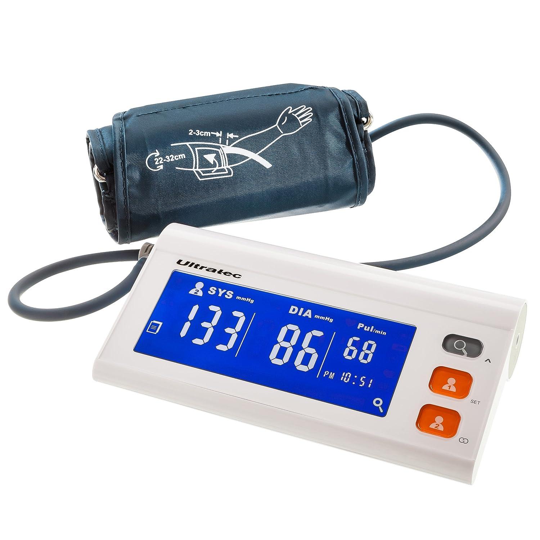 Ultratec Helping Hands - Tensiómetro, apto para 2 usuarios, aplicación incluida: Amazon.es: Salud y cuidado personal