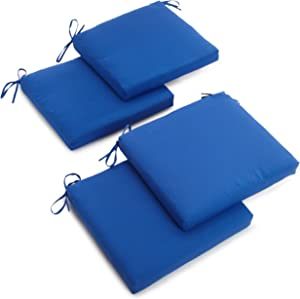 Blazing Needles Twill 19-Inch by 20-Inch by 3-1/2-Inch Zippered Cushions, Royal Blue, Set of 4