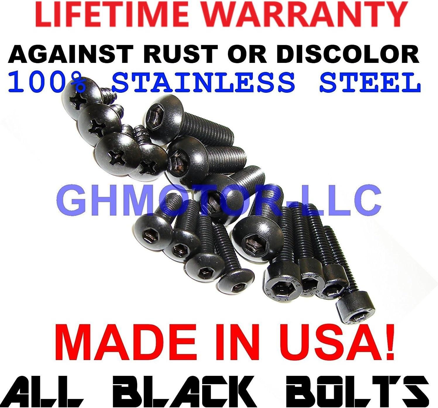 2004 2005 GSX-R GSXR 600 750 Fairings Bolts Screws Fasteners Kit Set Made in USA Silver