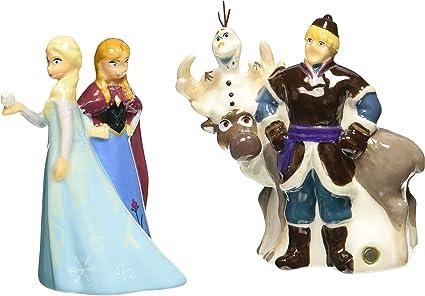 Amazon.com: Westland Giftware Disney Frozen Magnetic Ceramic Salt & Pepper Shaker Set, Multicolor: Kitchen & Dining