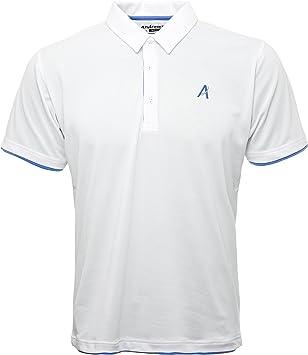 Polo de manga corta para hombre Andrews Golf - con filo plateado s ...